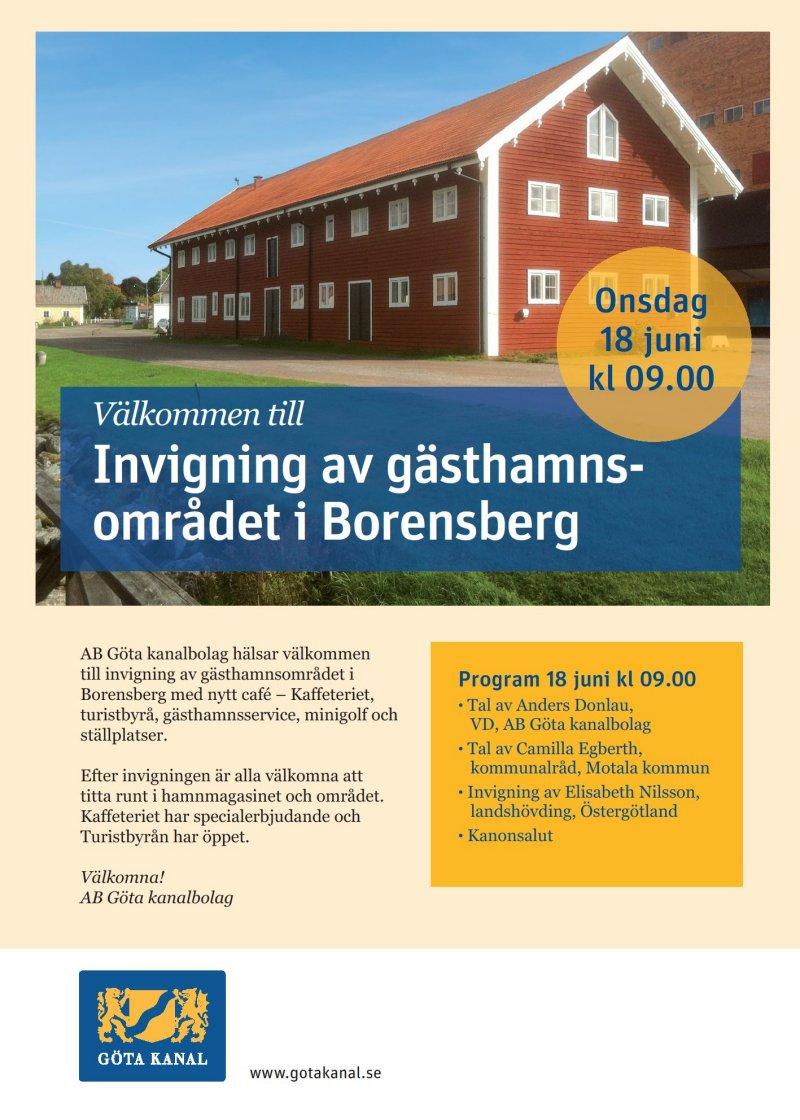 Invigning Borensbergs Hamn 18 juni 2014